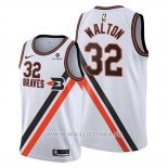 Maillot Los Angeles Clippers Bill Walton No 32 Classic Edition 2019-20 Blanc
