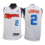 Maillot Los Angeles Clippers Kawhi Leonard No 2 2019-20 Blanc