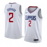 Maillot Los Angeles Clippers Kawhi Leonard No 2 Association 2019-20 Blanc