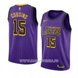Maillot Los Angeles Lakers Demarcus Cousins No 15 Ville 2019-20 Volet