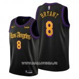 Maillot Los Angeles Lakers Kobe Bryant No 8 Ville 2019-20 Noir