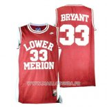 Maillot Lower Merion Kobe Bryant No 33 Rouge