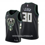 Maillot Milwaukee Bucks Jon Leuer No 30 Statement Noir