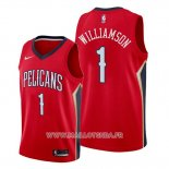 Maillot New Orleans Pelicans Zion Williamson No 1 Statement 2019-20 Rouge