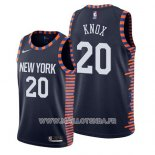 Maillot New York Knicks Kevin Knox No 20 Ville 2019 Bleu