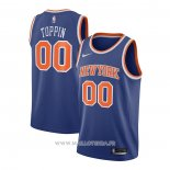 Maillot New York Knicks Obi Toppin NO 00 Icon 2020-21 Azul