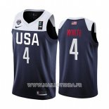 Maillot USA Derrick Blanc No 4 2019 FIBA Basketball World Cup Bleu