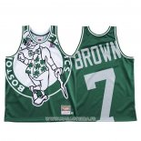 Maillot Boston Celtics Jaylen Brown NO 7 Mitchell & Ness Big Face Vert