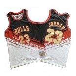 Maillot Chicago Bulls Michael Jordan No 23 Mitchell & Ness Noir Rouge