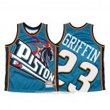 Maillot Detroit Pistons Blake Griffin NO 23 Mitchell & Ness Big Face Bleu