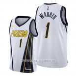 Maillot Indiana Pacers T.j. Warren No 1 Earned Blanc
