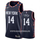 Maillot New York Knicks Allonzo Trier No 14 Ville 2019 Bleu