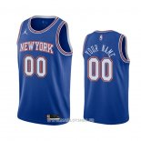 Maillot New York Knicks Personnalise Statement 2020-21 Bleu