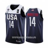 Maillot USA Khris Middleton No 14 2019 FIBA Basketball World Cup Bleu