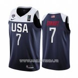 Maillot USA Marcus Smart No 7 2019 FIBA Basketball World Cup Bleu