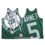 Maillot Boston Celtics Kevin Garnett NO 5 Mitchell & Ness Big Face Vert