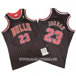 Maillot Chicago Bulls Michael Jordan No 23 Mitchell & Ness Noir