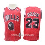 Maillot Chicago Bulls Michael Jordan No 23 Mitchell & Ness Rouge