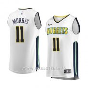 Maillot Denver Nuggets Monte Morris No 11 Association 2017-18 Blanc
