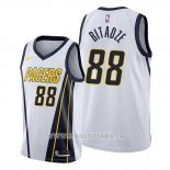 Maillot Indiana Pacers Goga Bitadze No 88 Earned Blanc