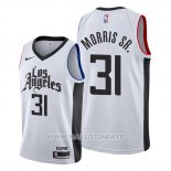 Maillot Los Angeles Clippers Marcus Morris Sr. No 31 Classic 2019-20 Blanc