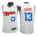 Maillot Los Angeles Clippers Paul George No 13 2019-20 Blanc