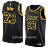 Maillot Los Angeles Lakers Anthony Davis No 23 Ville 2019-20 Noir