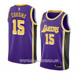 Maillot Los Angeles Lakers Demarcus Cousins No 15 Statement 2019-20 Volet