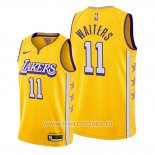 Maillot Los Angeles Lakers Dion Waiters No 11 Ville 2020 Or