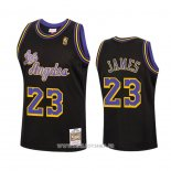 Maillot Los Angeles Lakers Lebron James No 23 Reload Hardwood Classics 2020 Noir