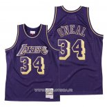 Maillot Los Angeles Lakers Shaquille O'neal No 34 2020 Chinese New Year Throwback Volet