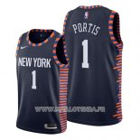 Maillot New York Knicks Bobby Portis No 1 Ville 2019 Bleu