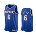 Maillot New York Knicks Elfrid Payton No 6 Statement 2020-21 Bleu