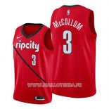 Maillot Portland Trail Blazers C.j. Mccollum No 3 Earned 2019 Rouge