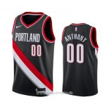 Maillot Portland Trail Blazers Carmelo Anthony No 00 Icon Noir