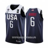 Maillot USA Joe Harris No 6 2019 FIBA Basketball World Cup Bleu