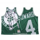 Maillot Boston Celtics Carsen Edward NO 4 Mitchell & Ness Big Face Vert