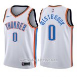 Maillot Enfant Oklahoma City Thunder Russell Westbrook No 0 Association 2017-18 Blanc