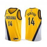 Maillot Indiana Pacers Jakarr Sampson NO 14 Statement 2019-20 Jaune