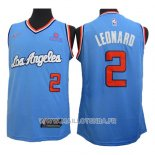 Maillot Los Angeles Clippers Kawhi Leonard No 2 2019-20 Bleu