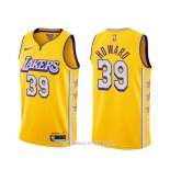 Maillot Los Angeles Lakers Dwight Howard NO 39 Ville 2019-20 Jaune