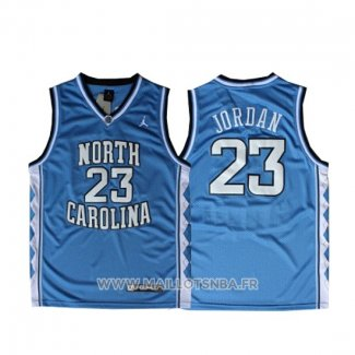Maillot NCAA North Carolina Tar Heels Michael Jordan NO 23 Bleu