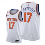 Maillot New York Knicks Iggy Brazdeikis No 17 Association 2019-20 Blanc