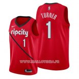 Maillot Portland Trail Blazers Evan Turner No 1 Earned 2019 Rouge