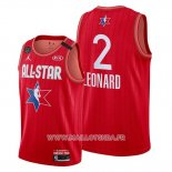 Maillot All Star 2020 Los Angeles Clippers Kawhi Leonard No 2 Rouge