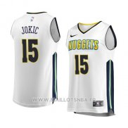 Maillot Denver Nuggets Nikola Jokic No 15 Association 2017-18 Blanc