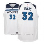 Maillot Enfant Minnesota Timberwolves Karl-anthony Towns No 32 2017-18 Blanc