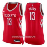 Maillot Femme Houston Rockets James Harden No 13 Icon 2017-18 Rouge