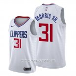 Maillot Los Angeles Clippers Marcus Morris Sr. No 31 Association 2019-20 Blanc