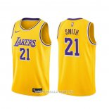 Maillot Los Angeles Lakers J.r. Smith NO 21 Icon 2020 Jaune